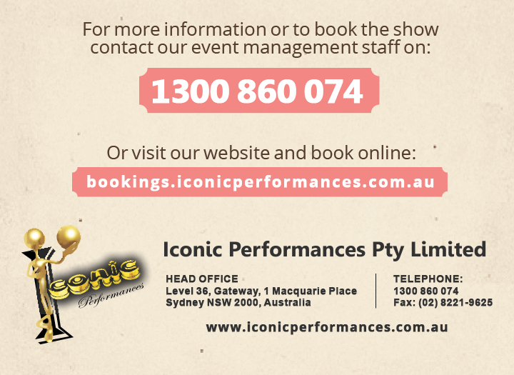 Iconic Performances, School, Workshop, Excursions, Performances, Australia History