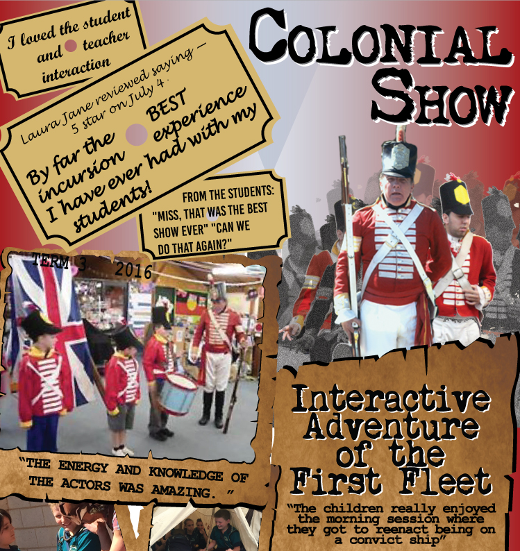 Interactive Adventure of the First Fleet, School Show, Incursion, Excursion, Students, Shows, Performances