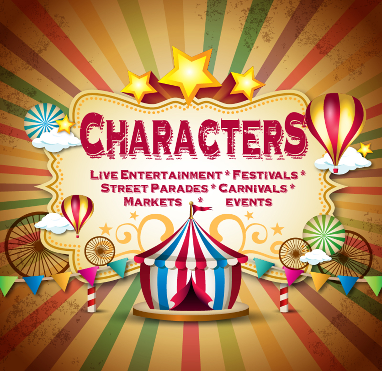 Live Entertainment, Street Parades, Carnivals, Festivals, Markets, Events, Character Costumes