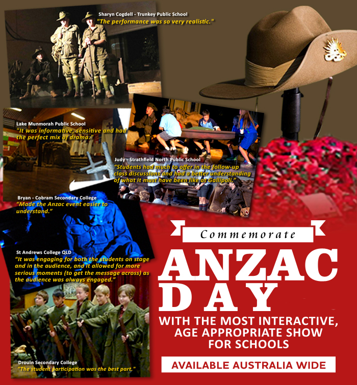 A truly remarkable show that makes every-one stop to think about ANZAC Day