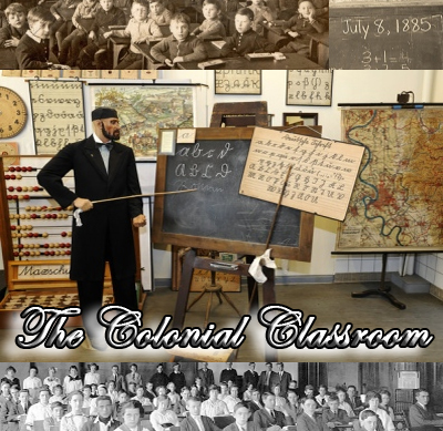 The Colonial Classroom, going back into the past with Australia's first school.